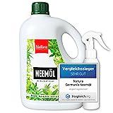 Natura Germania® Neemöl (Niemöl) mit Waschnuß-Extrakt als Emulgator 1L - fertig gemischt - inklusive Mischflasche