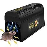 Guijiyi Elektronische Rattenfalle, Mäusefalle Professionelle Rattenköderstation, High Voltage Emitting Mäuse für Mäuse Kastenfalle, für Garten