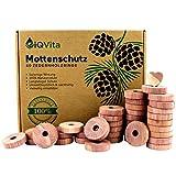 Natürlicher Mottenschutz aus Zedernholz – 40 Mottenringe – 100% Naturprodukt – Hervorragende Mottenabwehr für Kleiderschrank – BIO – Mottenfalle - Chemiefrei