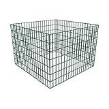 Festnight Metall Zaun Drahtgeflecht Gartenzaun Gitterzaun Zaunelemente für Gartenkomposthaufen Quadratmaschenzaun Stahl 100 x 100 x 70 cm