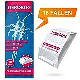 Gerobug Silberfischfalle = 18 Stück zum Silberfische nachweisen + E-Book zum Silberfische bekämpfen + Support vom Profi