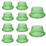 U/N Schneckenschutz, Schneckenkragen,Schneckenzaun Salat, Pflanzglocke, 10 Stück Schneckenabwehr aus Plastik, zur Abwehr Von Schnecken Schützt Pflanzen vor Tierfraß für Hochbeete, Grün