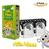Villa Maus Mausefalle Lebend - Die tierfreundliche Lebendfalle Rattenfalle - Mäuse einfach fangen (2 Pack Vorteilspreis)