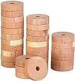 infactory Zedernholz Motten: Mottenringe aus Zedernholz im 30er-Set, passend für alle Kleiderbügel (Zedernholz-Mottenschutz-Sets)