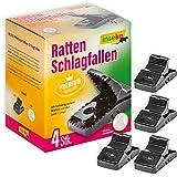 inseko 4 x Premium-Rattenfallen I sehr hochwertig I wiederverwendbar I inklusive Handschuhe (4)