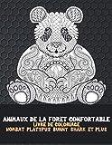 Animaux de la forêt confortable - Livre de coloriage - Wombat, Platypus, Bunny, Shark, et plus
