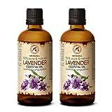 Lavendelöl 2x100ml - Bulgarien - 100% Rein & Natürliches Ätherisches Lavendel Öl für Guten Schlaf - Beauty - Schönheit - Aromatherapie - Entspannung - Raumduft - Duftlampe - Lavendelöl Ätherisch