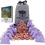 55x (45+10) Natürlicher Mottenschutz für Kleiderschrank, Mottenschutz aus Zedernholz und Provence Lavendelsäckchen, Motten Duftsäckchen Kleiderschrank, Chemiefreie Mottenfalle Kleidermotten
