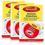Aeroxon Ameisenköderdose - schnelle und starke Wirkung - auch gegen die Ameisenkönigin 3er Vorteilspack (3 x 1 Stück)