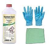 1 Liter Salmiakgeist zum Entfetten, Reinigen und Anlaugen inkl. Microfasertuch zum Auftragen