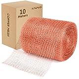 Kupfernetz, 12,5 cm * 10 m, 100% reines Kupfernetz, gerolltes Kupfergeflecht, Spaltblocker zum Bauen von Löchern, Schützen von Setzlingen und Samen, Grillen sauber reinigen, Stoff selbst füllen.