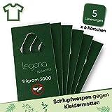 Legona® - Schlupfwespen gegen Kleidermotten/Biologische & Nachhaltige Bekämpfung von Textilmotten / 6X Trigram-Karte à 5 Lieferungen/Alternative zu Mottenspray und Mottenkugeln