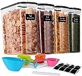 GoMaihe 4L Vorratsdosen 4 Set, Aufbewahrungsbox Küche Luftdicht Behälter aus Plastik Mit Deckel, Vorratsgläser zur Aufbewahrung von Nudeln, Müsli, Reis, Mehl, und für Futter Haustiere, MEHRWEG