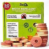 Mottenschutz für Kleiderschrank by Zidina | 40x Premium Bio Mittel gegen Motten Zedernholz | ideal für duftende Garderobe | chemikalienfreie Mottenfalle im Schrank und wirksamer Mottenschutz