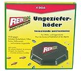 REINEX 4er Pack Ungezieferdose Köderdose Ungeziefergift Kakerlaken Silberfisch
