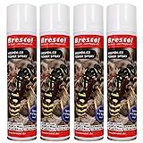 WESPEN-EX Power Spray 4x 400 ml -- Wespenspray Pyrethrum Insektizid Wespenschaum Wespenabwehr Wespenbekämpfungsmittel Wespenmittel Ungezieferspray Wespenschutz Wespengift Wespenfalle Wespenbekämpfung